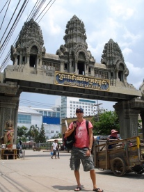 Scott crossing Thai-Cambodia border