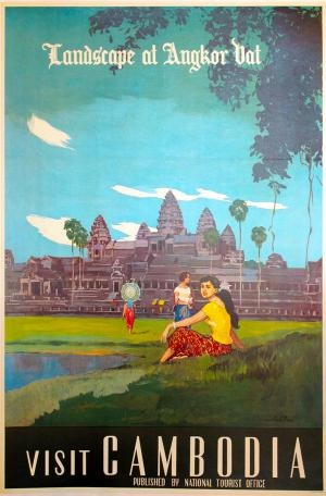 Vintage Cambodia poster